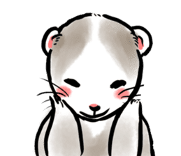 ferret-choju-giga sticker #13096640
