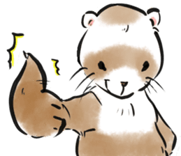 ferret-choju-giga sticker #13096645