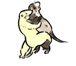 ferret-choju-giga sticker #13096664