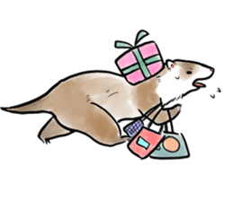 ferret-choju-giga sticker #13096665