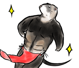 ferret-choju-giga sticker #13096667