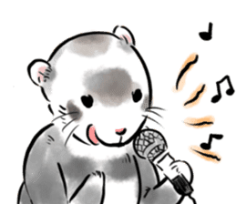 ferret-choju-giga sticker #13096674