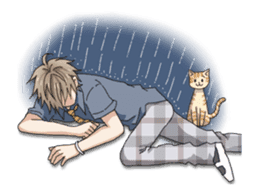 Animated Fun life of Boy Student sticker #13111186