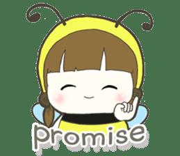 Haru little bee sticker #13119345