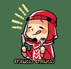Zawgyi and Oo Shwe Yo (Myanmar/Burma) sticker #13122890