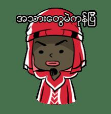 Zawgyi and Oo Shwe Yo (Myanmar/Burma) sticker #13122891