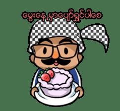 Zawgyi and Oo Shwe Yo (Myanmar/Burma) sticker #13122915