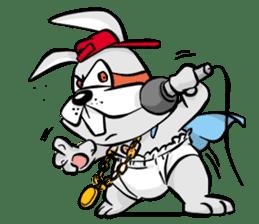 Baby Rabbit Superhero sticker #13126676