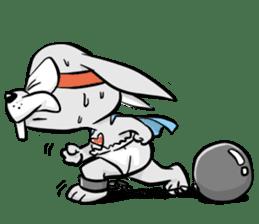 Baby Rabbit Superhero sticker #13126689