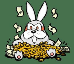 Baby Rabbit Superhero sticker #13126695