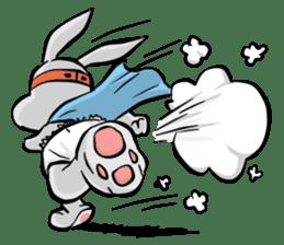 Baby Rabbit Superhero sticker #13126696