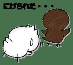 Komyushou chicken 2 sticker #13137987