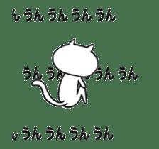Shy cat & bird...? sticker #13138496