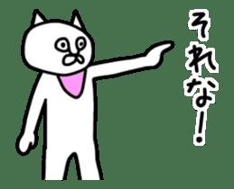 Animation vulgar cat-ish guy sticker #13147978