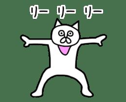 Animation vulgar cat-ish guy sticker #13147990