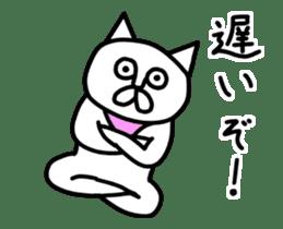 Animation vulgar cat-ish guy sticker #13147991