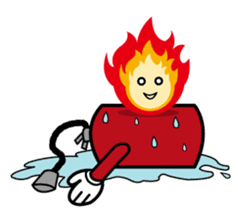 fuoco fire extinguisher sticker #13153673