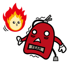 fuoco fire extinguisher sticker #13153684