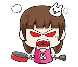 Wife Angry + sticker #13160060