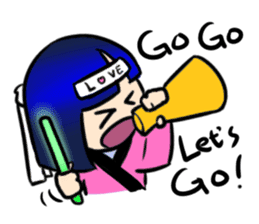 Okappa girl Kato ver.cosplay sticker #13169887