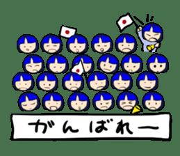 Okappa girl Kato ver.cosplay sticker #13169888
