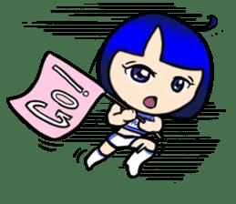 Okappa girl Kato ver.cosplay sticker #13169891