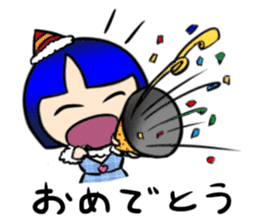 Okappa girl Kato ver.cosplay sticker #13169894