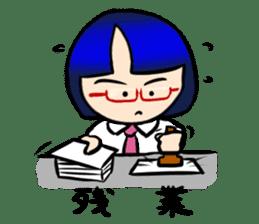 Okappa girl Kato ver.cosplay sticker #13169908