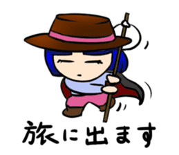 Okappa girl Kato ver.cosplay sticker #13169925