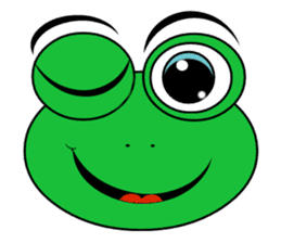 Frog Face : Muka Kodok sticker #13177263
