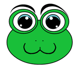 Frog Face : Muka Kodok sticker #13177264
