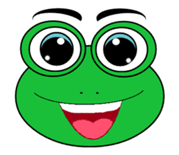 Frog Face : Muka Kodok sticker #13177267