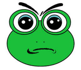 Frog Face : Muka Kodok sticker #13177274