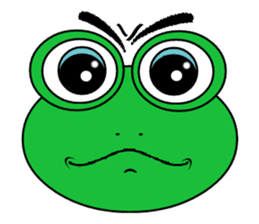 Frog Face : Muka Kodok sticker #13177276