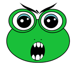 Frog Face : Muka Kodok sticker #13177280