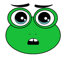 Frog Face : Muka Kodok sticker #13177288