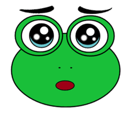 Frog Face : Muka Kodok sticker #13177292