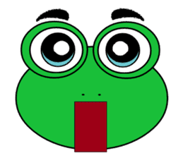 Frog Face : Muka Kodok sticker #13177297