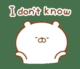 Kumaman english sticker #13185816