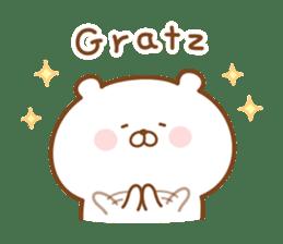 Kumaman english sticker #13185837