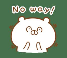 Kumaman english sticker #13185839