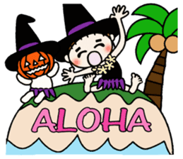 Hawaiian Girl ocyame of autumn 1 sticker #13205788