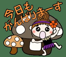 Hawaiian Girl ocyame of autumn 1 sticker #13205797