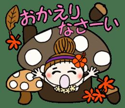 Hawaiian Girl ocyame of autumn 1 sticker #13205800