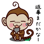 Monkey Sticker! sticker #13206440