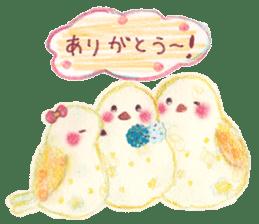 Little white bird 'SHIRO' sticker #13211630
