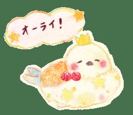 Little white bird 'SHIRO' sticker #13211632