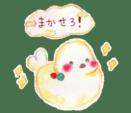 Little white bird 'SHIRO' sticker #13211633