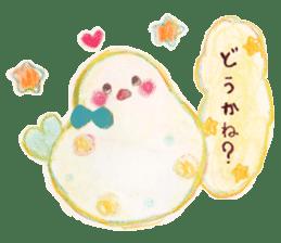 Little white bird 'SHIRO' sticker #13211634