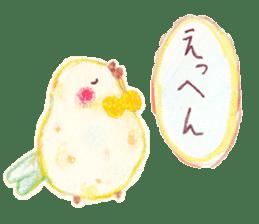 Little white bird 'SHIRO' sticker #13211635